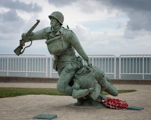 Omaha Beach Soldier Statue