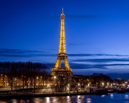 Eiffel Tower over the Seine River