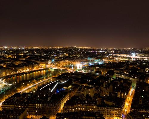 The Seine River City Skyline