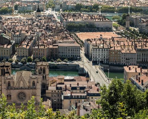 Lyon City Skyline