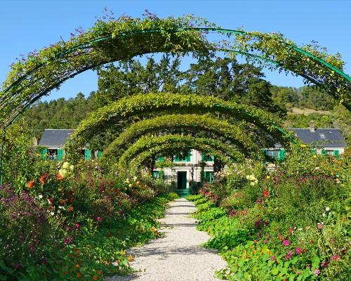 Monet's Garden Floral Alley