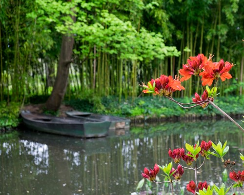 Giverny wooden boat
