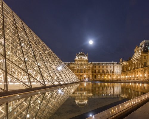 The Louvre Pyramids by Night