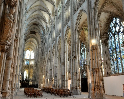 Inside Cathedral Notre Dame of Rouen