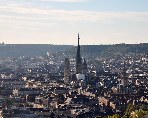 Rouen City Skyline