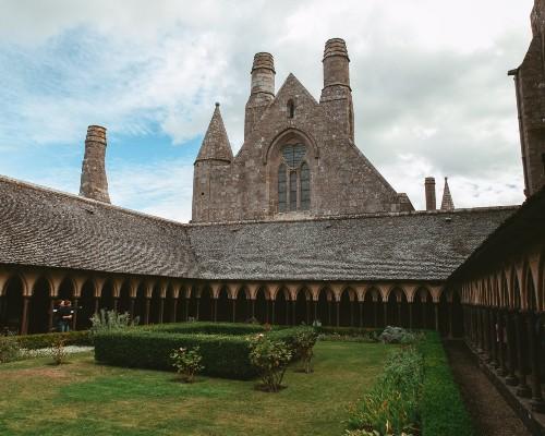 Inside Mont-Saint-Michel Abbey
