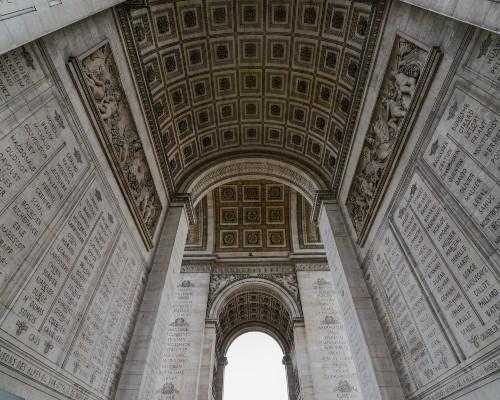 Soldiers Names Inscribed Under l'Arc de Triomphe