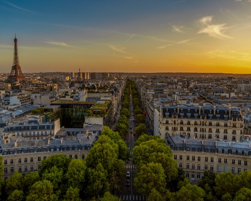 Sunset View from l'Arc de Triomphe